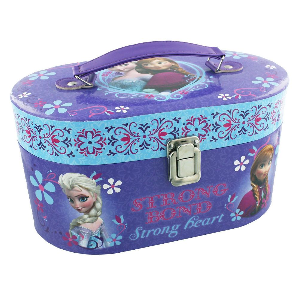 Disney Frozen Oval Train Carry Case - Vanity Jewellery Box - Girls Bedroom Accessory Gift